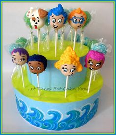 Bubble Guppies cake pops by Let Them Eat Cake Pops ~ www.LetsEatCakePops.com #bubbleguppies #merbabies #cakepops