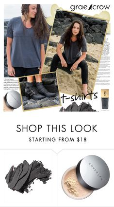 """""""Grae Crow"""" by gaby-mil ❤ liked on Polyvore featuring My Sis, Whiteley, Bobbi Brown Cosmetics, Cover FX, Yves Saint Laurent, Boots, shirt, shop and graecrow"""