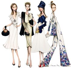It's been a huge month of events & Raceday illustrating, I've had such fun dressing up, taking the bump out & about but now it's time to… Fashion Artwork, Fashion Design Drawings, Fashion Sketches, Fashion Poses, Fashion Line, Girl Fashion, Megan Hess Illustration, Illustration Girl, Fashion Illustration Dresses