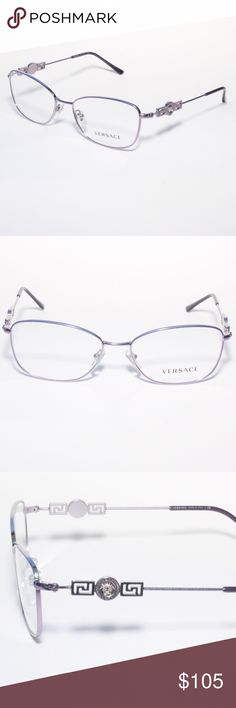7755ebf4ba Versace Eyeglasses 1231 1349 54 16 Violet Brand new 100% authentic Versace  Eyeglasses 1231