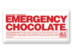 Critical element in any first aid kit! Emergency #Chocolate