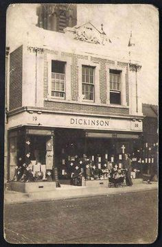 Dickinsons on Station Road, next to St. Now a shop called 'Magic Stitches' Old Pictures, Old Photos, Salford, Local History, Manchester, Stitches, Places To Visit, Street View, Magic