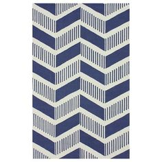 Graphic chevron rug