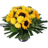 Zonnig zonnebloemen boeket  Vanaf: €19,95