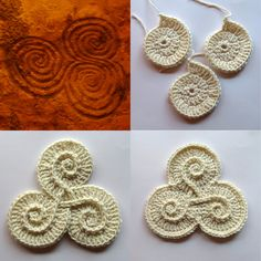 Freeform crochet symbols .... she has so many inspiring & fairly easy-to-make forms !!!