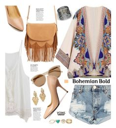 """Yoins.com: Bohemian Bold"" by hamaly ❤ liked on Polyvore featuring Bohemme, Yves Saint Laurent, Sole Society and One Teaspoon"