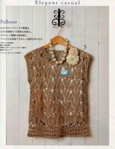 """Crochet: """"Pineapple"""" TOP"""