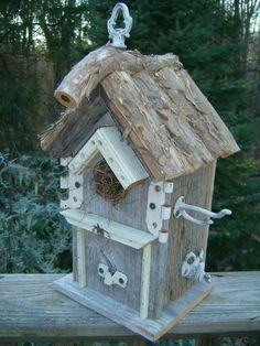 Bird House Rustic Shabby Chic Country Cottage by Birdhousesandbuds, $40.00