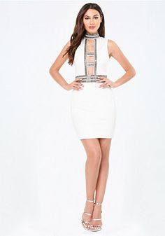 bebe Embellished Cage Dress #bebe #pinyourwishlist