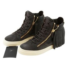 d15311d78106ec Giuseppe Zanotti Grey New Women Suede Leather Fringe High-top Sneakers Eu  38.5 Boots Booties Size US 8.5 Regular (M