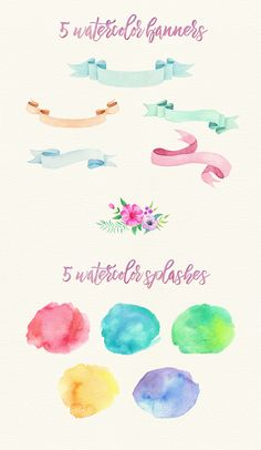 Handpainted Watercolor Elements Set on Behance