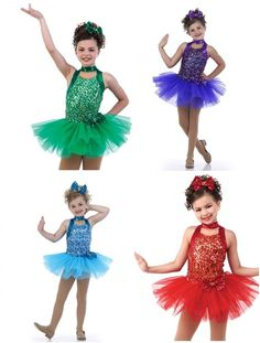 Get Your Sparkle On Glitter Ballet Tutu Tap Christmas Colors Dance Costume USA #Cicci