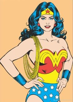 Wonder Woman Portrait Card - this looks the way I remember her!-