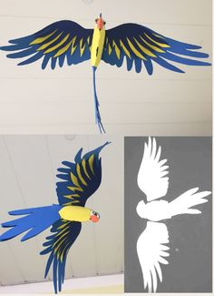 3d Paper Art, 3d Paper Crafts, Bird Crafts, Diy And Crafts, Crafts For Kids, Rainforest Crafts, Rainforest Project, Art N Craft, Diy Art
