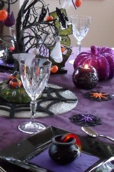 Halloween Tablescape - Party Planning - Party Ideas - Cute Food - Holiday Ideas -Tablescapes - Special Occasions And Events - Party Pinching