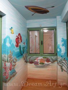 Ζωγραφική σε όλο το παιδικό δωμάτιο με θέμα το βυθό_Dream-Art
