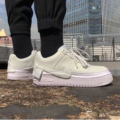 Air Force 1 Jester Off White Nike Shoes Air Force, Nike Air Force Ones, Sneakers Fashion, Fashion Shoes, Sneakers Nike, Sock Shoes, Cute Shoes, Hypebeast, Jester Outfit