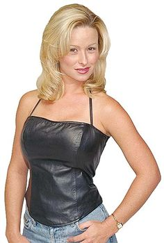 Leather Halter Top with Built in Support Jamin Leather - $43