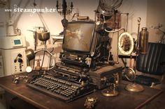 fully functional steampunk computer, mouse, keyboard, webcam... by steamworker.deviantart.com on @deviantART