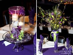 peacock wedding table decor