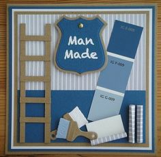 JL-7 - Groot Masculine Birthday Cards, Masculine Cards, Diy Paper, Paper Crafts, New Home Cards, Die Cut Cards, Marianne Design, Paint Chips, Scrapbook Cards