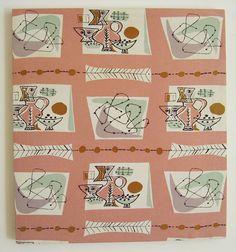 Jacqueline Groag fabric, for David Whitehead c1955…