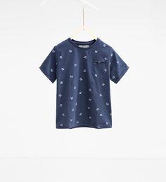Image 1 of Flamingo print T-shirt from Zara