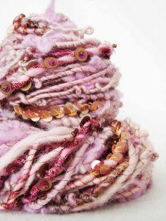 Hand Spun Art Yarn - Gulabo | by Wyld Earth