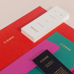 Stong competing colours using gold foiled text. Vivid and eye-catching colours.