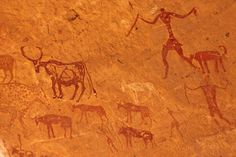 Sites rupestres du Tadrart Acacus méridional - Algérie