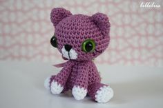 PATTERN  Little kitty  crochet pattern amigurumi por lilleliis