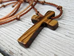 Wood Cross Necklace  Kingwood & Zebrawood  Men's by TheLotusShop, $14.95