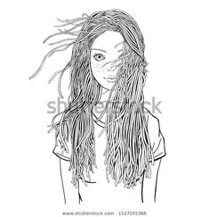 Find Young Beautiful Girl Zentangle Style Black stock images in HD and millions of other royalty-free stock photos, illustrations and vectors in the Shutterstock collection. Zentangle, Black And White Doodle, Doodle Coloring, Zen Art, Coloring Book Pages, Young And Beautiful, Drawing People, Female Art, Cute Girls
