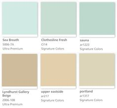 Valspar (Lowes) paint colors: Clothesline Fresh Cl14 and Portland ar1317 )both Signature Colors)