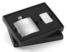 personalized flask and lighter set