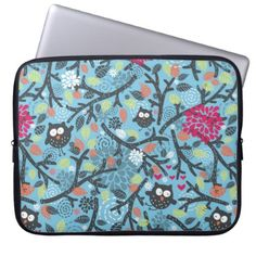 #My crazy owl pet computer sleeve - #flower gifts floral flowers diy