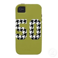The Big 50 Houndstooth Print iPhone 4/4S Case
