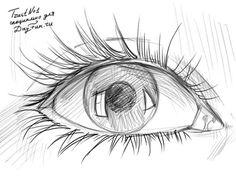 Как нарисовать глаз карандашом 4