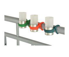 Set di 2 porta tealight da ringhiera in acciaio, vetro e silicone | Dalani Home & Living