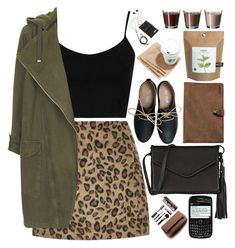 """""""2063. You only live once, but if you do it right, once is enough."""" by chocolatepumma ❤ liked on Polyvore featuring Topshop, Miz Mooz, Kjøre Project, Wendy Nichol, Laura Mercier, Molami, croptop, LeopardPrint, personalstyle and beoriginal"""