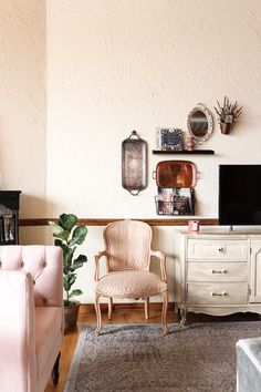 Corner Desk, Gallery Wall, Living Room, Furniture, Home Decor, Corner Table, Decoration Home, Room Decor, Sitting Rooms
