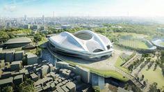 新国立競技場の完成予想図(日本スポーツ振興センター提供)
