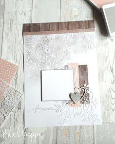 Romantisches Hochzeits-Layout mit dem lasergeschnittenen Designpapier 'Fantastisch Filigran'