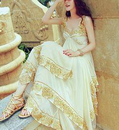 Cocktail Dress/ Long Prom Dress / Cocktail Dress / Long Evening Dress /Party Dresses/Champagne Bridesmaid Dresses/Wedding Party Dresses D10