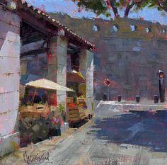 Jennifer McChristian, 'Ripe for the Season' (oil on panel, 7x7 inches) — in Saint-Paul-de-Vence.
