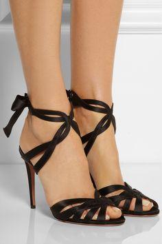 Aquazzura|Charlotte satin sandals|NET-A-PORTER.COM