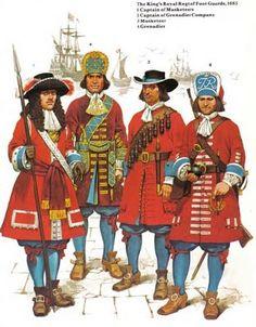 English Infantry, Monmouth Rebellion, 1685.