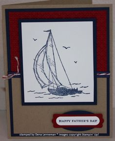 stampin up fathers day cards   Sail Away For Father's Day