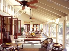 HistoricalConcepts-architects for this year's Southern Living Idea house - back screened porch