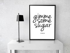 GIMME SOME SUGAR SIGN  The world says that weddings have to cost you an arm and a leg, but I'm here to tell you that they are wrong! Add that special touch to your wedding with these elegant DIY Printable Wedding Signs. Can't you just see one of these glistening signs at your ceremony or reception? Get the look without running your wallet dry!  …………… INSTANT DOWNLOAD PRINTABLE ……………  ♥ Simply purchase, download, and print yourself ♥ Crop lines for precise measurements on 8.5 x 11 US paper ♥…